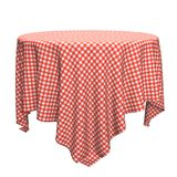 White And Red Round Table Cloth Royalty Free Stock Photos