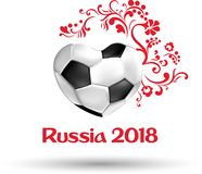 White and red Russia 2018 football world cup card. vector illustration