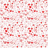 I love you seamless pattern royalty free illustration
