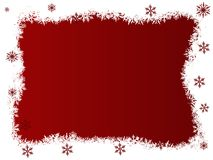 White and Red SnowFlakes Royalty Free Stock Photos