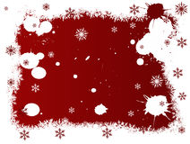 White and Red SnowFlakes Royalty Free Stock Photo