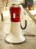 White and red speaker in the street Stock Photography
