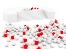 White and red spheres Stock Photos