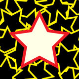 White and red star over stars background Royalty Free Stock Image