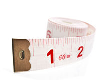 White and red tape measure Stock Photo