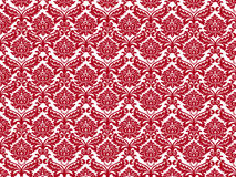 White red wallpaper. Red on white royal fancy wallpaper royalty free illustration