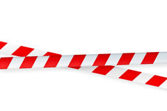 White and red warning  tape Stock Image