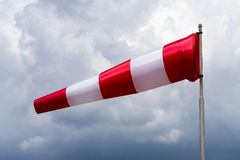 White-red windsock  Royalty Free Stock Photos