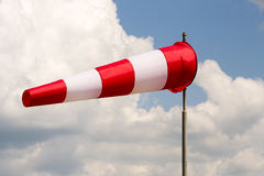 White-red windsock  Royalty Free Stock Image