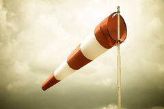 White-red windsock Royalty Free Stock Images