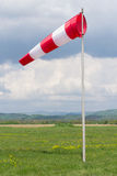 White-red windsock Stock Image