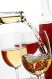 White and red wine Royalty Free Stock Images
