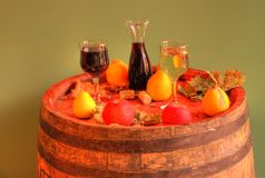 White and red wine Royalty Free Stock Photography