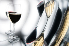 White and red wine. Stock Image