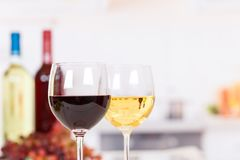 White red wine in a glass wines with copyspace royalty free stock photo