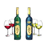 White and red wine Stock Photos