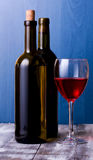 White and red wine and wine glass Stock Image