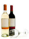 White and red wine with wineglass Stock Photos