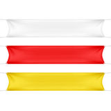 White, Red and Yellow Blank Empty Banners Royalty Free Stock Photos