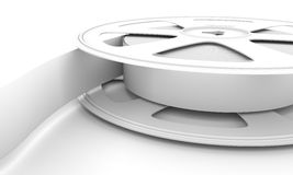 White reel film. White reel film close-up. 3d render image Stock Images