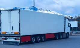 White refrigerated truck Stock Image