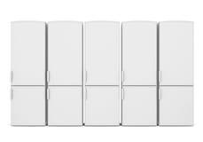 White refrigerators Stockbild