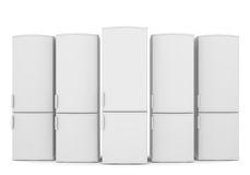 White refrigerators Royalty Free Stock Photos