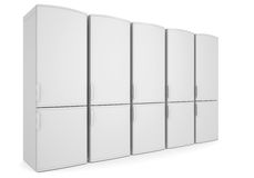 White refrigerators Royalty Free Stock Photography