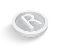 White Registered trademark symbol Stock Photo
