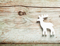White reindeer Christmas decoration Stock Photo