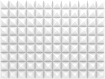 White relief pattern, front view. 3d. Abstract geometric background white triangular relief pattern, front view. 3d render illustration Stock Photos