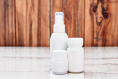 White remedy containers. Royalty Free Stock Photography
