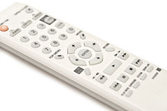 White Remote Control. White television and CD DVD remote control Stock Images