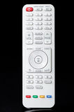 White remote control. For black background Royalty Free Stock Photography