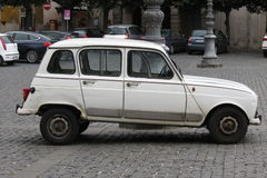 White Renault 4 isolated Stock Photos