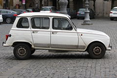 White Renault 4 Royalty Free Stock Photo