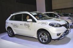 White renault koleos car Stock Image
