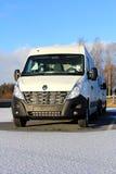 White Renault Master dCi 125. FORSSA; FINLAND - NOVEMBER 24: White Renault Master dCi 125 van on November 25; 2013 in Forssa; Finland. Renault Master holds a 13 Royalty Free Stock Image