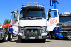 White Renault T480 Show Truck Stock Photos