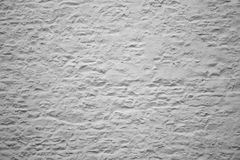 White rendered wall Royalty Free Stock Photography