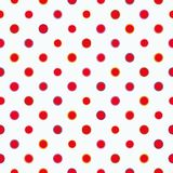 White pattern with polka dots. stock illustration