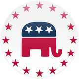 White Republican Button Royalty Free Stock Images