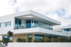 White residential building in the south of Portugal. Royalty Free Stock Image
