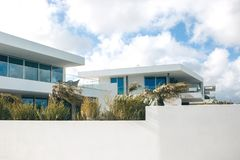 White residential building in the south of Portugal. Royalty Free Stock Photos