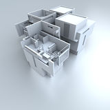 White residential structure Royalty Free Stock Photo