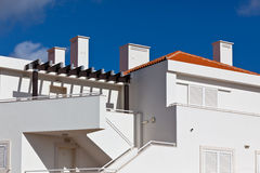 White Resort Apartment House in Portugal Royalty Free Stock Photos