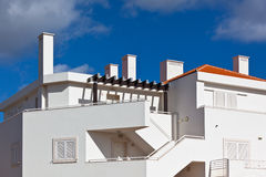 White Resort Apartment House in Portugal Stock Photography