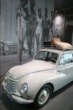 White retro Audi car royalty free stock photos