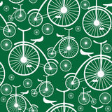White retro bicycle seamless pattern Stock Images