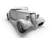 White retro cabriolet Stock Images